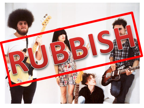 Rubbish band Yuck, yesterday.